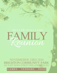 Family Reunion In Family Reunion Flyer
