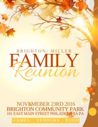 Customizable Design Templates For Family Reunion