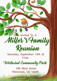 family reunion flyer templates free family reunion invite swirly tree printable digital