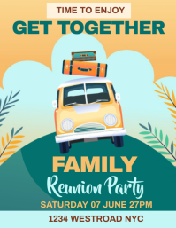FAMILY REUNION INVITE INVITATION TEMPLATE