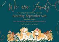 Family Reunion Postcard Invitation Postkarte template