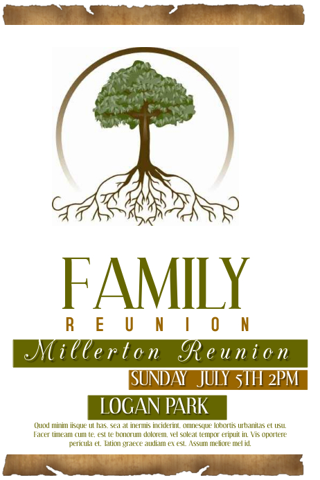 Copy Of Family Reunion  Postermywall