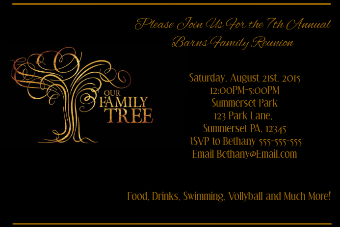 family reunion Template | PosterMyWall