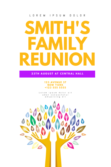 Family Reunion Poster Template Plakat