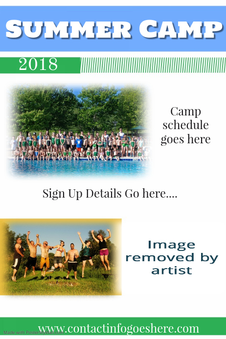 family reunion summer camp poster flyer template spring