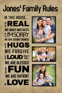 Family Rules Collage Template