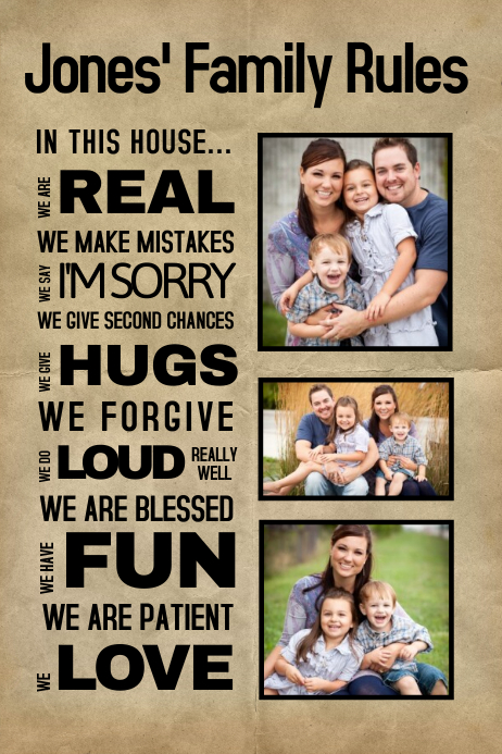 customize 410 family collage poster templates postermywall