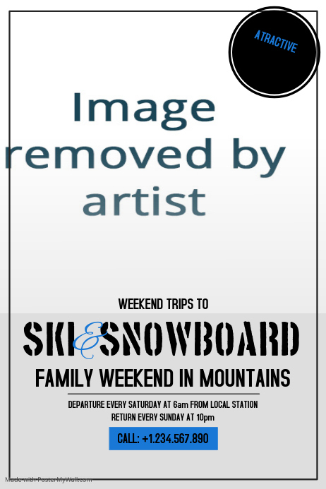 family ski and snowboard Template | PosterMyWall