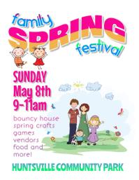 family spring festival flyer