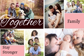 Family together Poster template