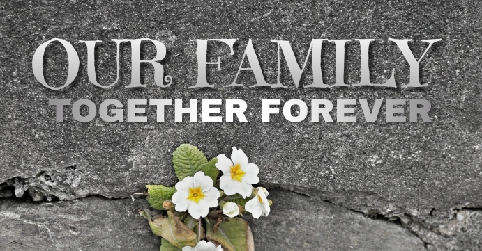 FAMILY TOGETHER QUOTE TEMPLATE Sampul Acara Facebook