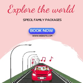 FAMILY TRAVEL AD SOCIAL MEDIA TEMPLATE Logotipo