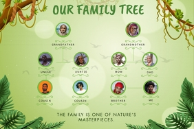 Family Tree Greenery Template