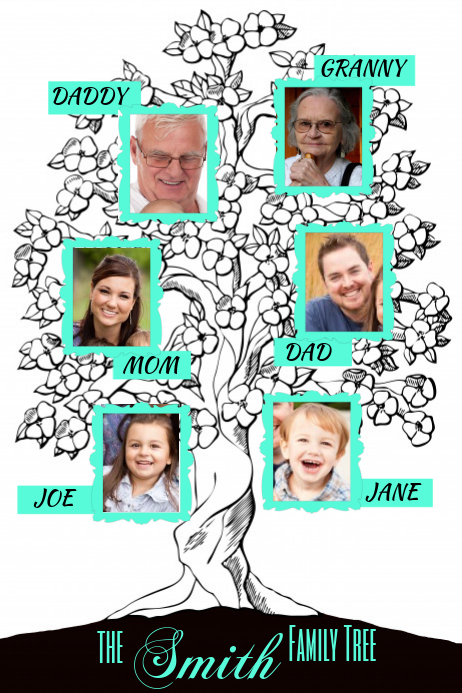 family tree poster template postermywall