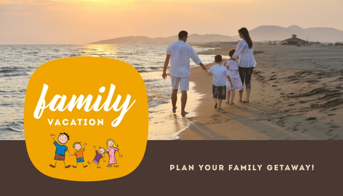 Family Vacation Templates Header Blog