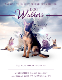 Fancy Dog Walker Poster Design