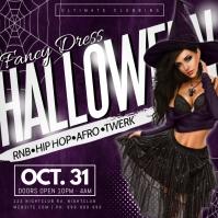 Fancy Dress Halloween Poster Message Instagram template