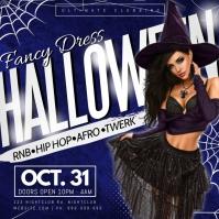 Fancy Dress Halloween Poster template