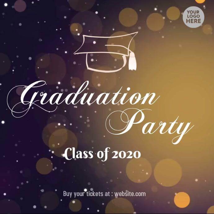 Fancy Graduation Party class of 2020 Pos Instagram template