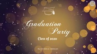 Fancy graduation party video Facebook-covervideo (16:9) template