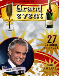 fancy grand event flyer poster