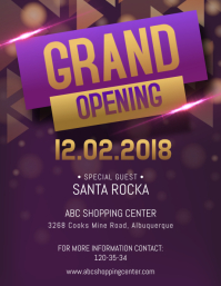 Fancy Grand Opening Flyer Template Volantino (US Letter)