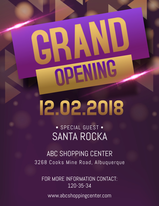 fancy grand opening flyer template postermywall