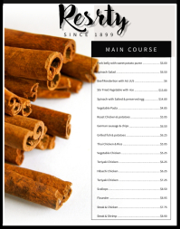 Fancy Menu Card Template