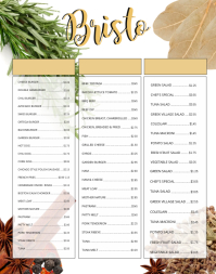 Fancy Menu Template