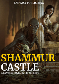 fantasy and adventure novel book cover design A4 template