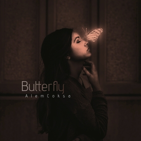 Fantasy Butterfly CD Cover Art Template
