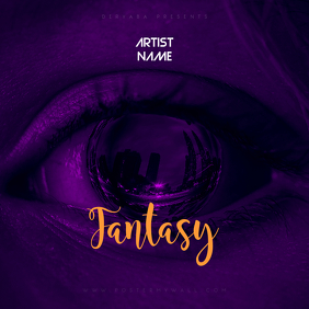 Fantasy CD Cover Art Template