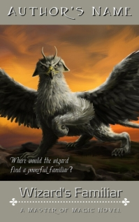 Fantasy Ebook Cover - Wizard's Familiar Kindle-omslag template