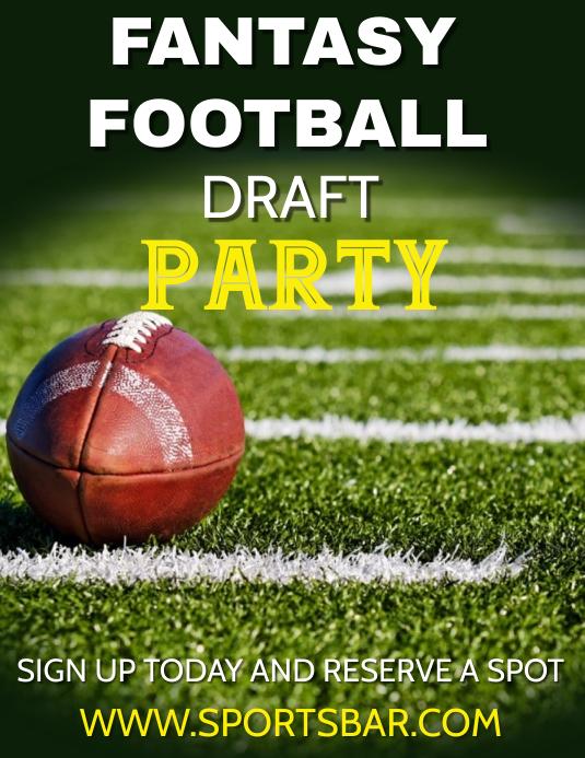fantasy football football party template postermywall