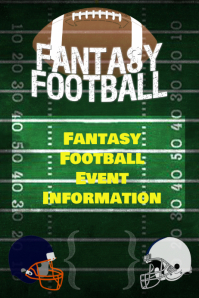 Fantasy Football Game Schedule Event Flyer Poster Invitation template