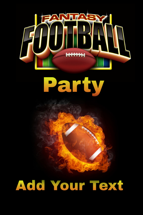 fantasy football party template postermywall
