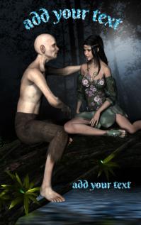 Fantasy Novel Book Cover Design Template 1