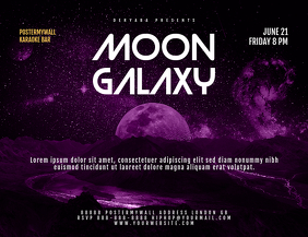Fantasy Space Galaxy Landscape Flyer Template