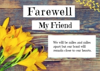 Farewell Greeting Cards Postcard template