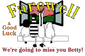 Farewell Banner 4' × 6' template