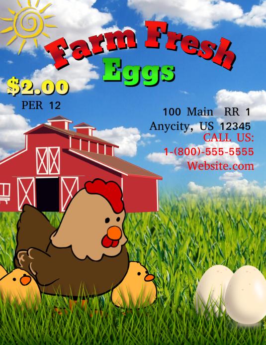 farm fresh eggs template
