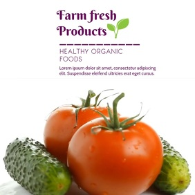 FARM PRODUCTS VIDEO AD Square (1:1) template