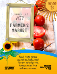 farm stand farmers market Flyer Template