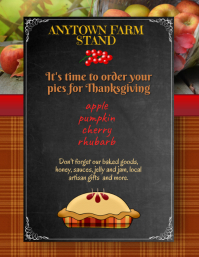 Farm Stand Store Pie Orders Flyer Template