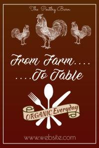Farm to Table Poster Póster template