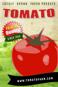 farm tomato Poster template