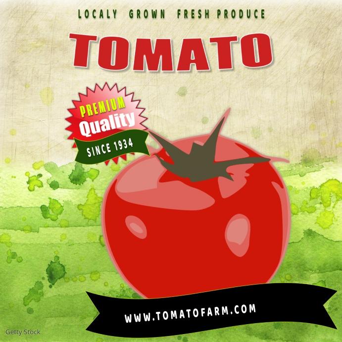 farm tomato instagram Square (1:1) template