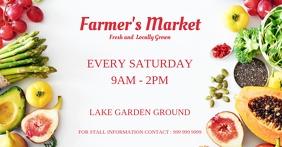 farmer's market Facebook-Anzeige template