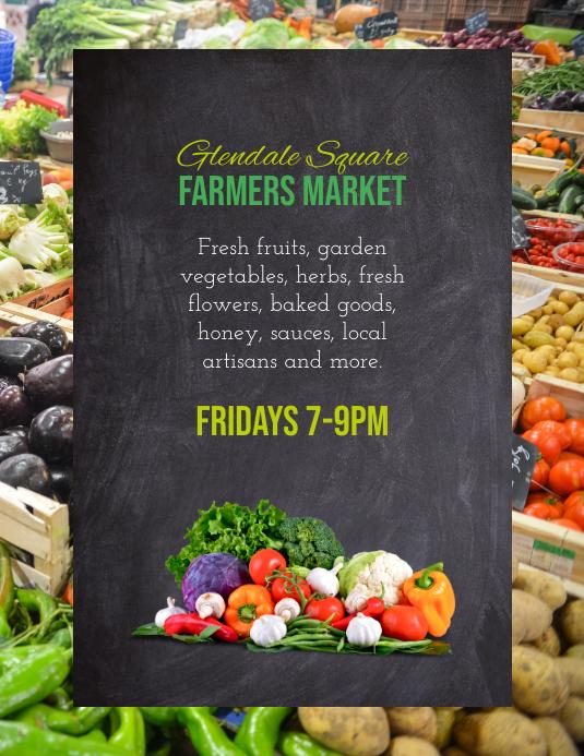Farmer's Market Farm Stand Flyer template