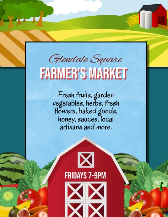 Farmer's Market Farm Stand Flyer